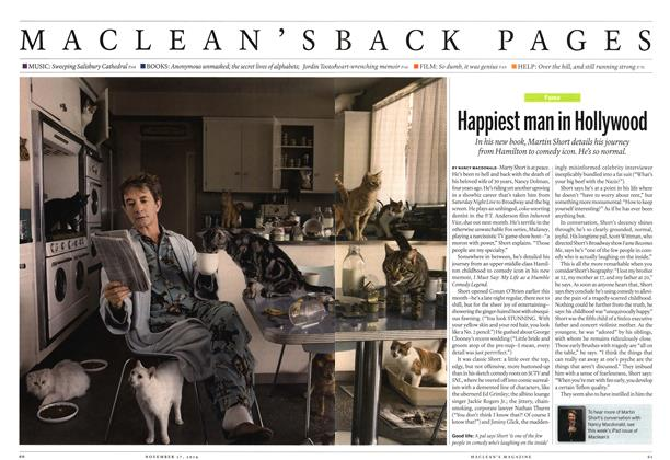 Article Preview: Happiest man in Hollywood, November 2014 | Maclean's