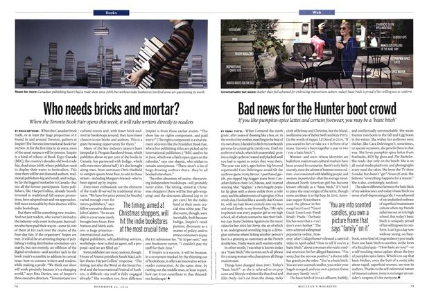 Article Preview: Bad news for the Hunter boot crowd, November 2014 | Maclean's