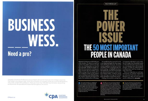Article Preview: THE POWER ISSUE, December 2014 | Maclean's