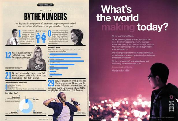 Article Preview: BY THE NUMBERS, December 2014 | Maclean's