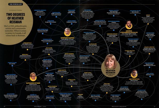 Article Preview: TWO DEGREES OF HEATHER REISMAN, December 2014   Maclean's