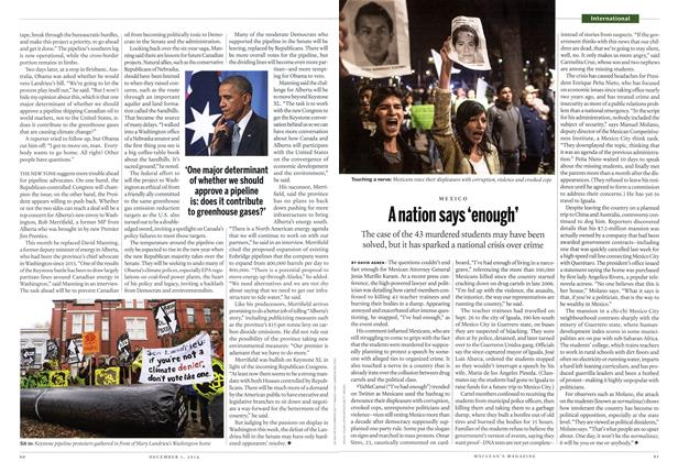 Article Preview: A nation says 'enough', December 2014 | Maclean's