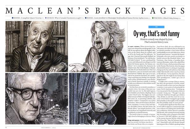 Article Preview: Oy vey, that's not funny, December 2014 | Maclean's