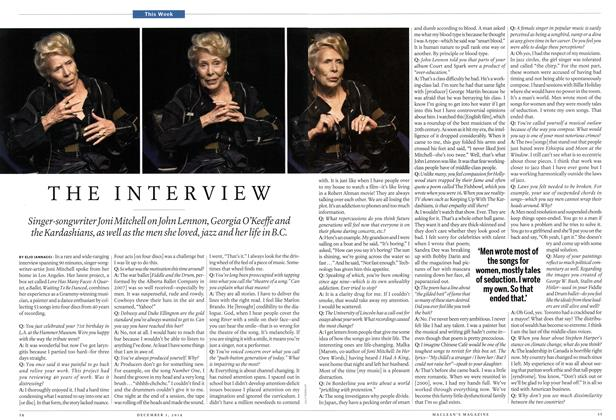 Article Preview: THE INTERVIEW, December 2014 | Maclean's
