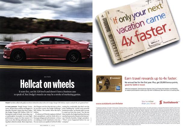 Article Preview: Hellcat on wheels, December 2014 | Maclean's