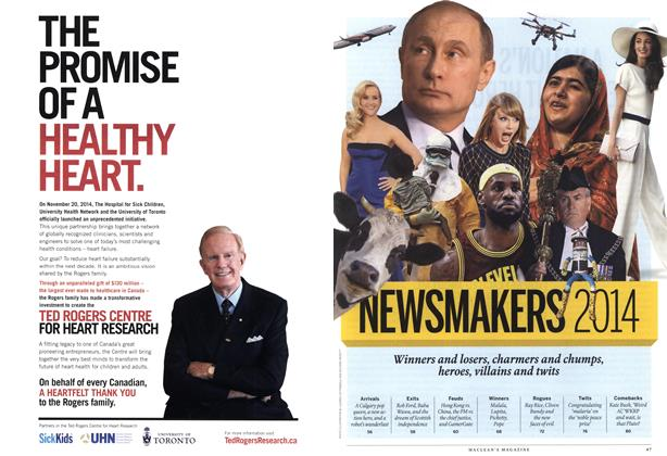 Article Preview: NEWSMAKERS 2014, December 2014 | Maclean's