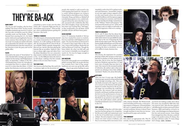 Article Preview: THEY'RE BA-ACK, December 2014 | Maclean's