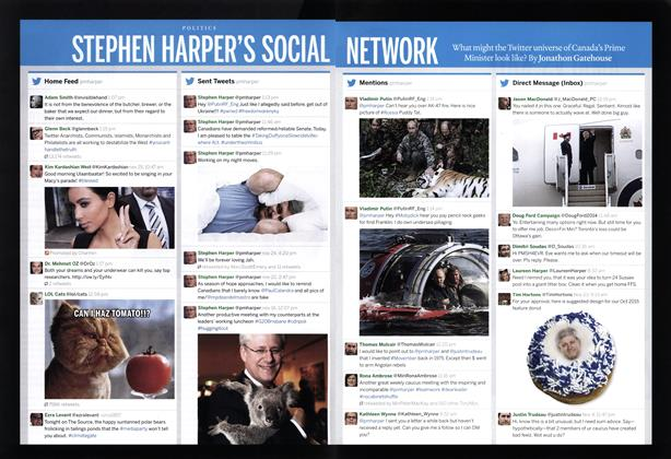 Article Preview: STEPHEN HARPER'S SOCIAL NETWORK, December 2014 | Maclean's