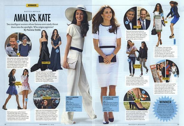 Article Preview: AMAL VS. KATE, December 2014 | Maclean's