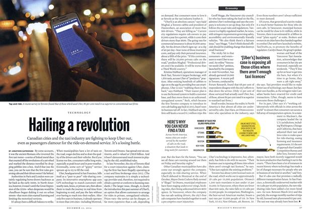 Article Preview: Hailing a revolution, December 2014 | Maclean's