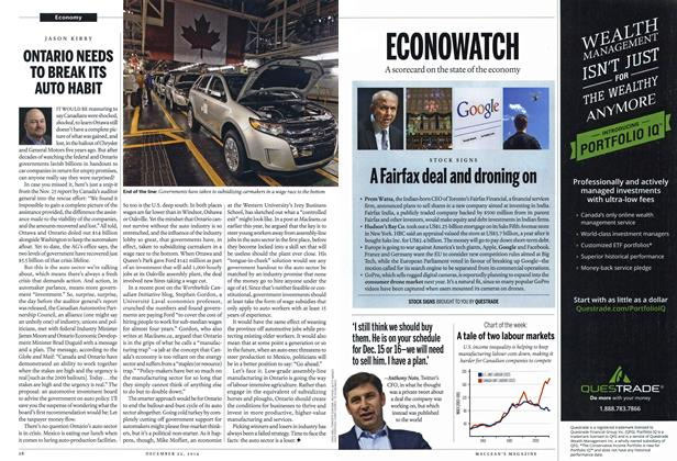 Article Preview: ONTARIO NEEDS TO BREAK ITS AUTO HABIT, December 2014 | Maclean's