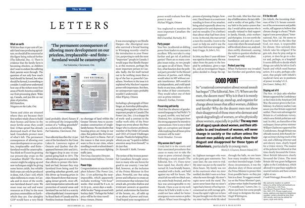 Article Preview: LETTERS, December 2014 | Maclean's