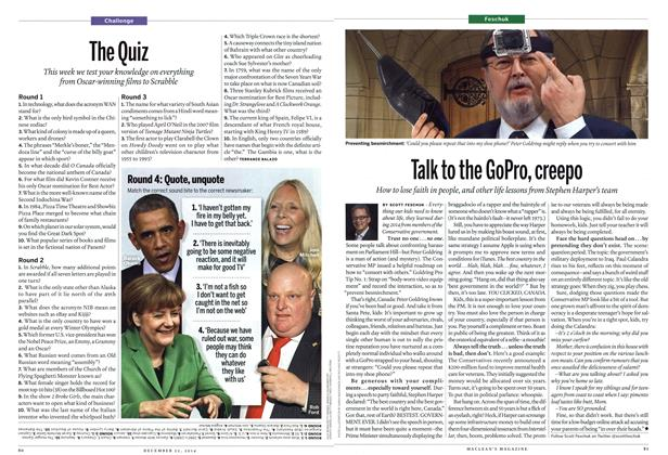 Article Preview: The Quiz, December 2014 | Maclean's