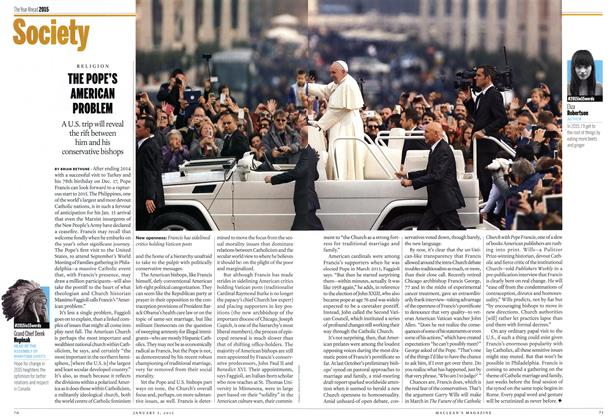Article Preview: THE POPE'S AMERICAN PROBLEM, January 2014 | Maclean's