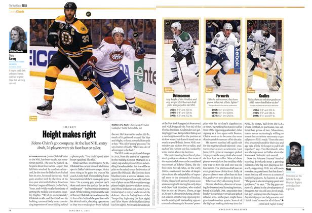 Article Preview: Height makes right, January 2014 | Maclean's