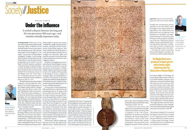 Article Preview: Under the influence, January 2014 | Maclean's
