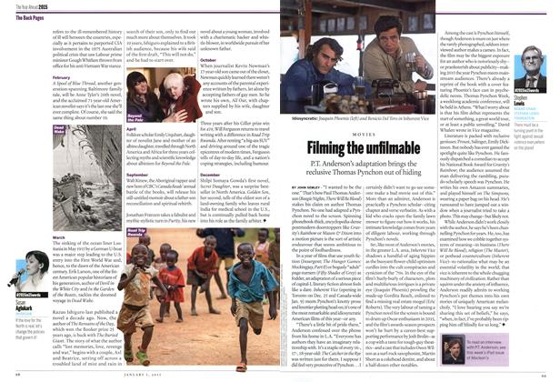 Article Preview: Filming the unfilmable, January 2014 | Maclean's