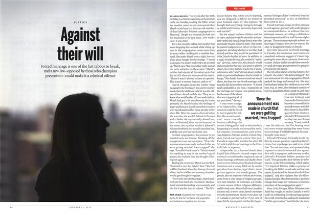 Article Preview: Against their will, January 2015 | Maclean's