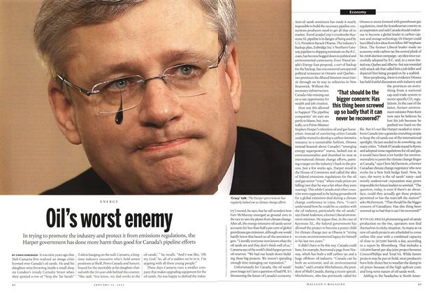 Article Preview: Oil's worst enemy, January 2015 | Maclean's