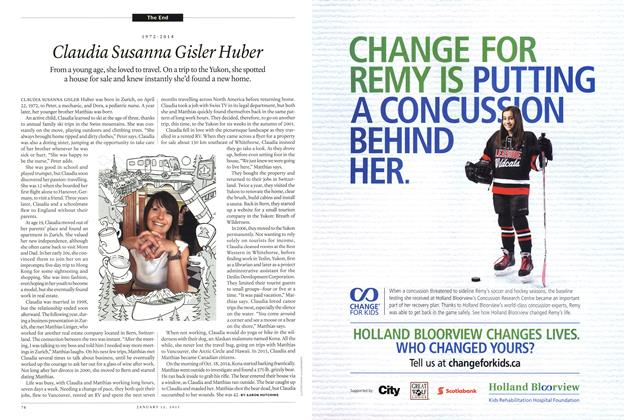 Article Preview: Claudia Susanna Gisler Huber, January 2015 | Maclean's