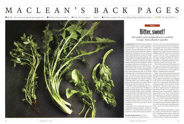 Article Preview: Bitter, sweet!, January 2015   Maclean's