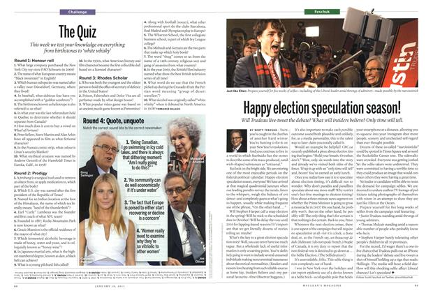 Article Preview: Happy election speculation season!, January 2015 | Maclean's