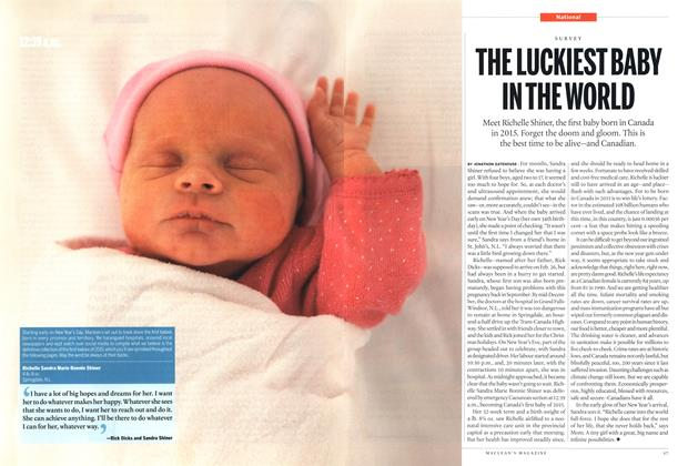 Article Preview: THE LUCKIEST BABY IN THE WORLD, January 2015 | Maclean's