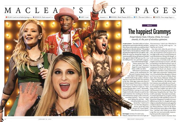 Article Preview: The happiest Grammys, January 2015 | Maclean's