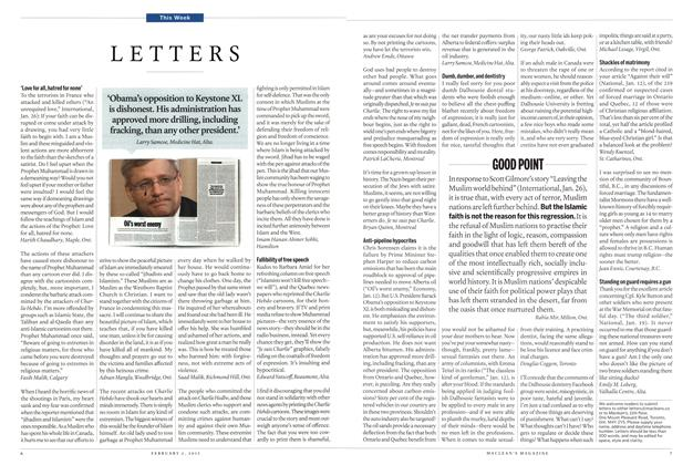 Article Preview: LETTERS, February 2015 | Maclean's