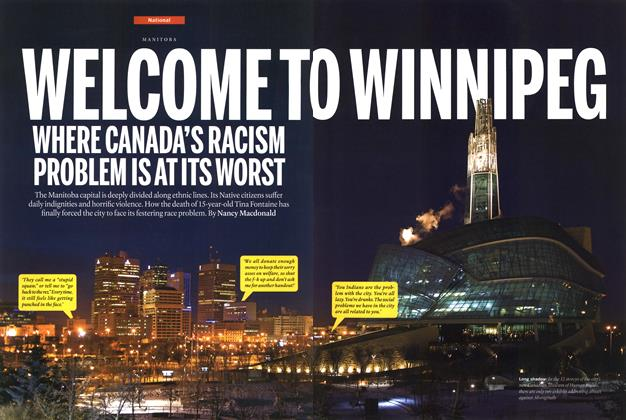 Article Preview: WELCOME TO WINNIPEG WHERE CANADA'S RACISM PROBLEM IS AT ITS WORST, February 2015 | Maclean's