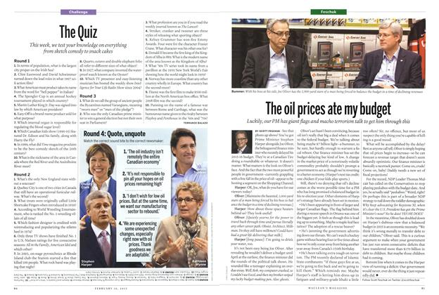 Article Preview: The Quiz, February 2015 | Maclean's