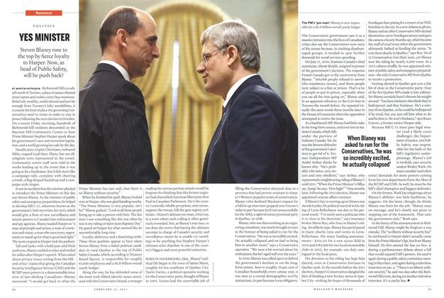 Article Preview: YES MINISTER, February 2015 | Maclean's