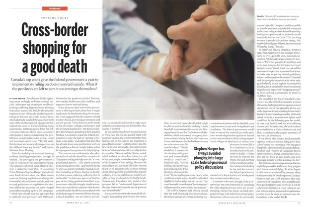 Article Preview: Cross-border shopping for a good death, February 2015 | Maclean's