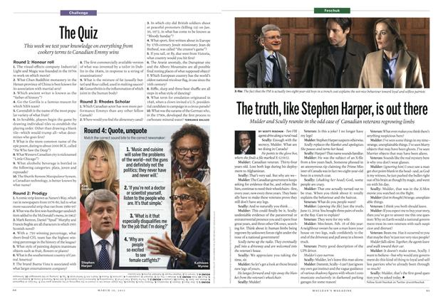 Article Preview: The truth, like Stephen Harper, is out there, MARCH 16,2015 2015 | Maclean's