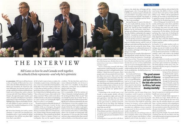 Article Preview: THE INTERVIEW, MARCH 16,2015 2015 | Maclean's