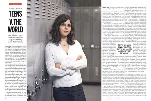 Article Preview: TEENS V.THE WORLD, March 2015 | Maclean's