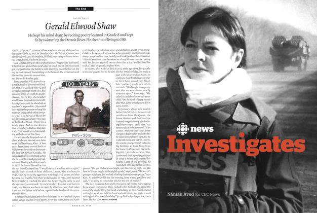 Article Preview: Gerald Elwood Shaw, March 2015 | Maclean's