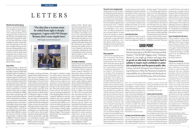 Article Preview: LETTERS, March 2015 | Maclean's