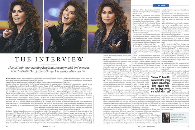 Article Preview: THE INTERVIEW, March 2015 | Maclean's