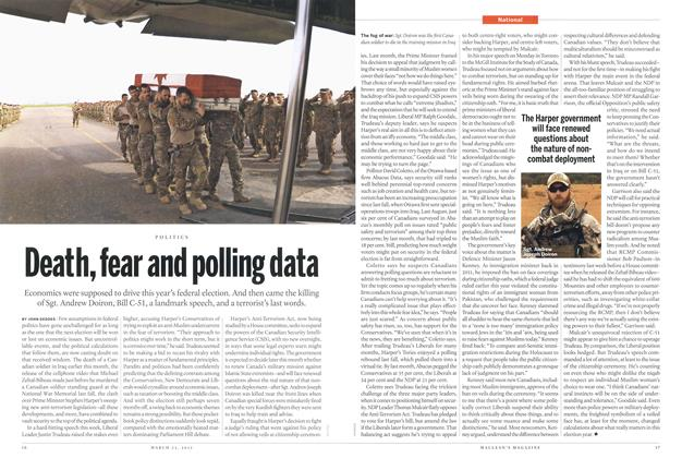 Article Preview: Death, fear and polling data, March 2015 | Maclean's