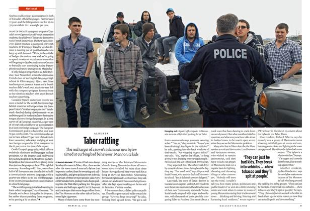 Article Preview: Taber rattling, March 2015 | Maclean's