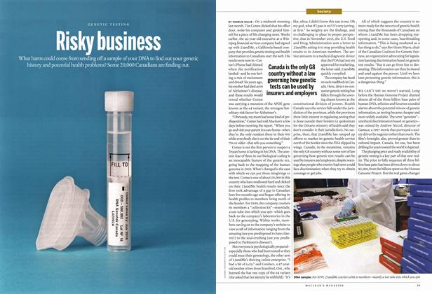 Article Preview: Risky business, March 2015 | Maclean's