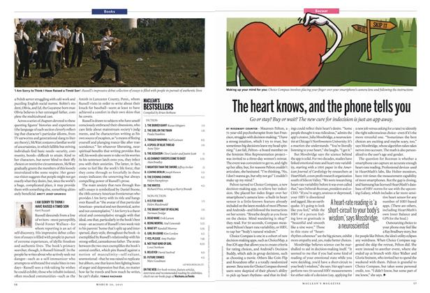Article Preview: The heart knows, and the phone tells you, March 2015 | Maclean's