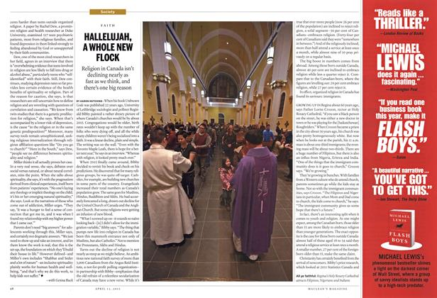 Article Preview: HALLELUJAH, A WHOLE NEW FLOCK, April 2015 | Maclean's