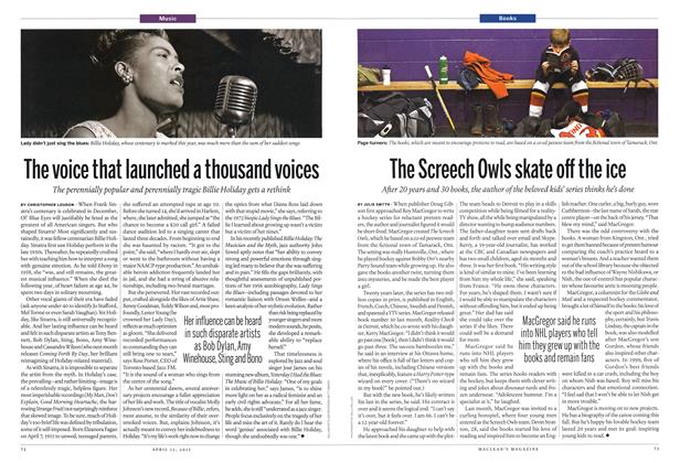 Article Preview: The voice that launched a thousand voices, April 2015 | Maclean's