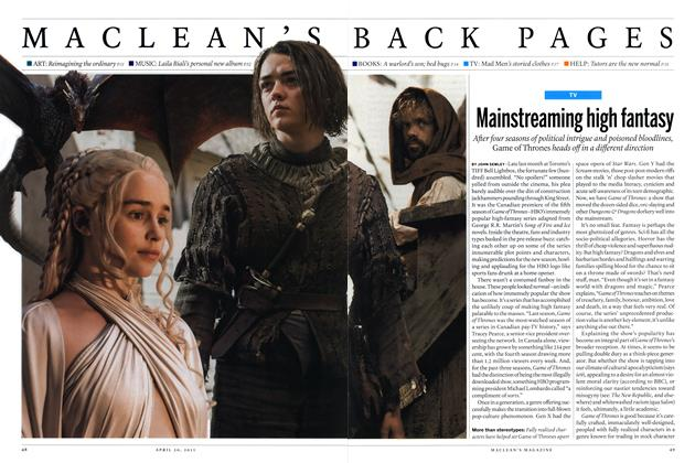 Article Preview: Mainstreaming high fantasy, April 2015 | Maclean's