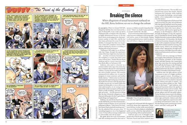 Article Preview: Breaking the silence, April 2015 | Maclean's