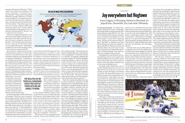 Article Preview: Joy everywhere but Hogtown, April 2015 | Maclean's