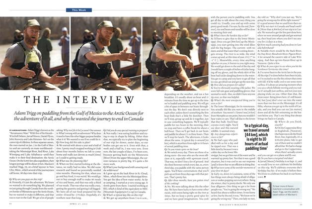 Article Preview: THE INTERVIEW, April 2015 | Maclean's