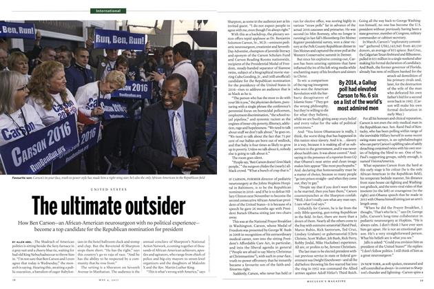 Article Preview: The ultimate outsider, May 2015 | Maclean's